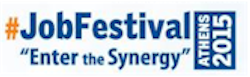 rejoin job festival enter the synergy athens 2015 logo